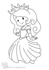 Imprimer le coloriage : Princesse, numéro 411f5496