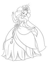 Imprimer le coloriage : Princesse, numéro 755625
