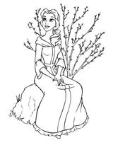 Imprimer le coloriage : Princesse, numéro 8280