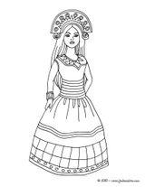 Imprimer le coloriage : Princesse, numéro b87e78c5