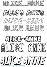 Imprimer le coloriage : Alice, numéro 2715b16b