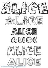 Imprimer le coloriage : Alice, numéro 2ec975a0