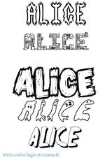 Imprimer le coloriage : Alice, numéro 3286a781