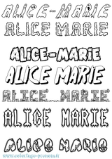 Imprimer le coloriage : Alice, numéro 422e2c9c