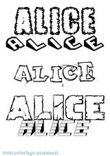Imprimer le coloriage : Alice, numéro 4be21409