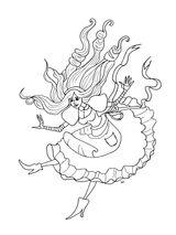 Imprimer le coloriage : Alice, numéro 4cd0dc42