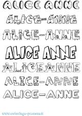 Imprimer le coloriage : Alice, numéro a79c31aa