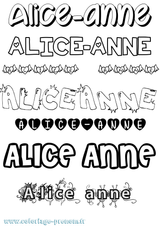 Imprimer le coloriage : Alice, numéro cd74f3fe
