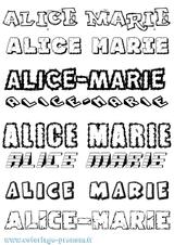 Imprimer le coloriage : Alice, numéro f39e014