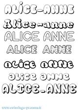 Imprimer le coloriage : Alice, numéro fc51835a