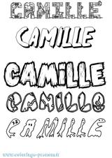 Imprimer le coloriage : Camille, numéro 7d1785bd