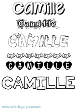 Imprimer le coloriage : Camille, numéro 8d5753c8