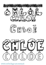 Imprimer le coloriage : Chloé, numéro 1ba6e2bd