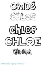 Imprimer le coloriage : Chloé, numéro 25b548dc