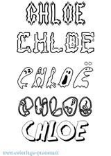 Imprimer le coloriage : Chloé, numéro 96778fba