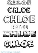 Imprimer le coloriage : Chloé, numéro 97fbe545