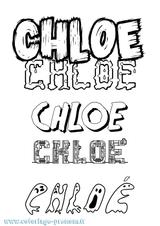 Imprimer le coloriage : Chloé, numéro d5d1b3fa