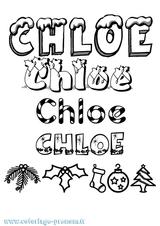 Imprimer le coloriage : Chloé, numéro e53c6ce6