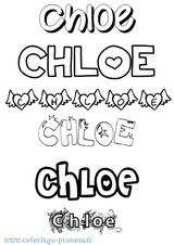 Imprimer le coloriage : Chloé, numéro f04bd727