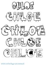 Imprimer le coloriage : Chloé, numéro fa64eef3
