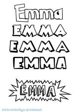 Imprimer le coloriage : Emma, numéro 21afdd27