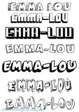 Imprimer le coloriage : Emma, numéro 4c9151d3