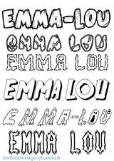 Imprimer le coloriage : Emma, numéro 57d91cc