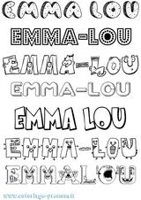 Imprimer le coloriage : Emma, numéro 83ac722d