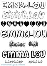 Imprimer le coloriage : Emma, numéro c9622c4a
