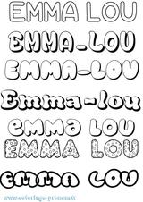 Imprimer le coloriage : Emma, numéro d09085ce