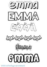 Imprimer le coloriage : Emma, numéro e4c73a6b