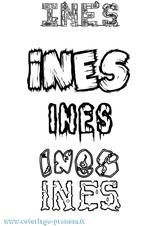 Imprimer le coloriage : Inès, numéro 8c3f1b8a