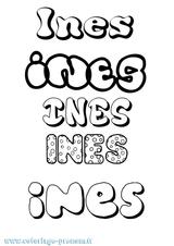 Imprimer le coloriage : Inès, numéro e7012c0a
