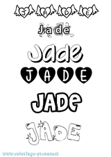 Imprimer le coloriage : Jade, numéro 63528705