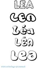 Imprimer le coloriage : Léa, numéro 16ea4b94