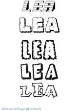 Imprimer le coloriage : Léa, numéro 83285f7e