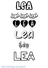 Imprimer le coloriage : Léa, numéro a8097024