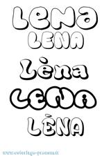 Imprimer le coloriage : Léna, numéro efa36b87