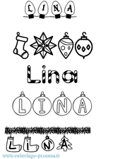 Imprimer le coloriage : Lina, numéro 32452c25