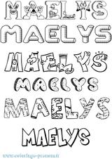 Imprimer le coloriage : Maëlys, numéro 47ab9dda