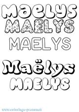 Imprimer le coloriage : Maëlys, numéro 6f4d7078