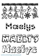 Imprimer le coloriage : Maëlys, numéro 92fae12f