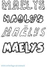 Imprimer le coloriage : Maëlys, numéro a0640ada
