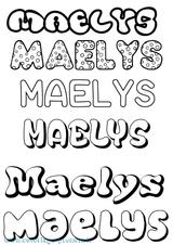 Imprimer le coloriage : Maëlys, numéro a23721d9