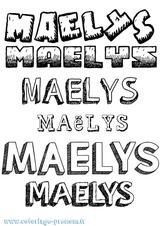 Imprimer le coloriage : Maëlys, numéro aeed0125