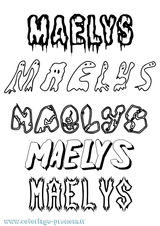 Imprimer le coloriage : Maëlys, numéro c412995b