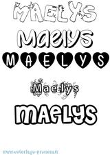 Imprimer le coloriage : Maëlys, numéro db71bb0e