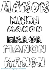 Imprimer le coloriage : Manon, numéro 2a506f3f