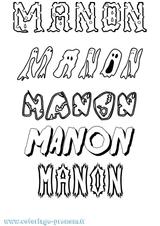 Imprimer le coloriage : Manon, numéro 484c471e