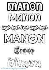 Imprimer le coloriage : Manon, numéro 9a3f00eb